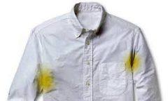 حذف  لکه های زرد عرق از روی لباس