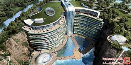 بزرگترین هتل دنیا که درون یک گودال ساخته شده است! +تصاویر